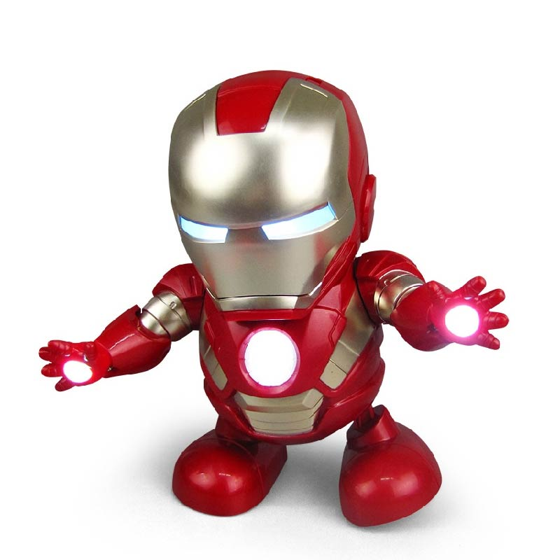 Iron Man Avengers Endgame Super Hero LED Lights Dance Music Action Figure Popular Toys Electric toys
