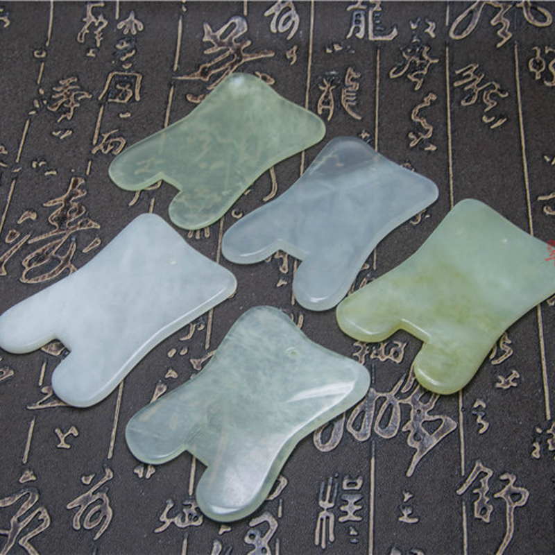 3PCS Modern Natural Jade Stone Guasha Gua Sha Board Square Shape Massage Hand Massager Relaxation Health Care Beauty Tool 2 sets ball the plum flower jade handball furnishing articles hand bead natural jade health care gifts