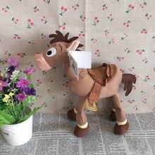 O Envio gratuito de 23 cm = 9 inch Original Toy Story Bullseye Pelúcia Figura Do Cavalo Bonito da Boneca Para As Crianças presente