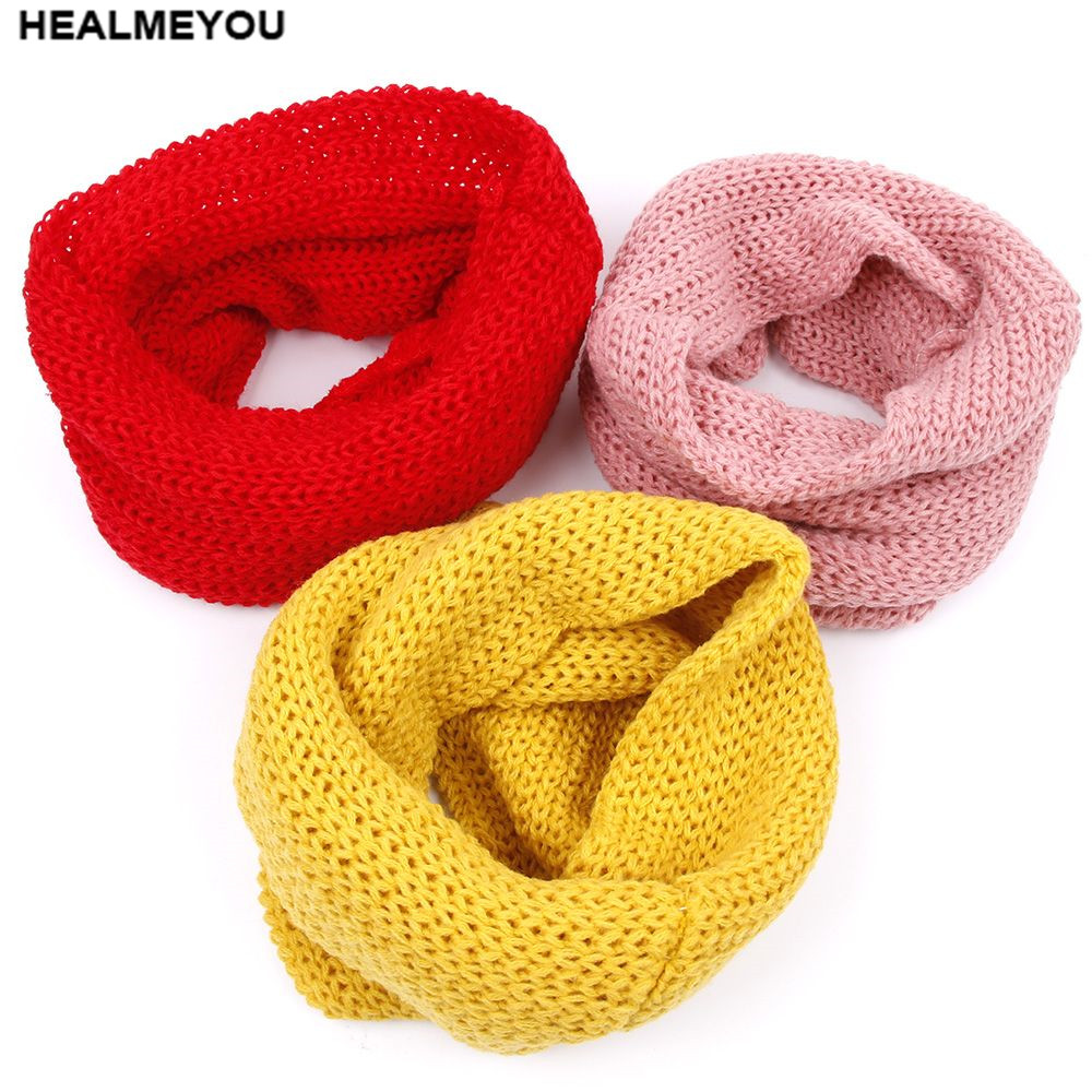 1pc Winter Baby Kids Warm Scarf Knitted Wool Cap Neck Warmer Protect The Ears
