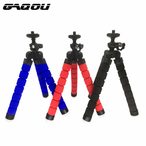GAQOU Mini Flexible Tripod For Digital Camera Phone Holder Flexible Octopus Tripod Bracket Stand Holder Mount Monopod Styling