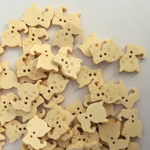 50PCs 2 Holes Wooden Cartoons Cat Animals Wood Sewing Buttons Decorative Button for Crafts Scrapbooking Sewing Accessories