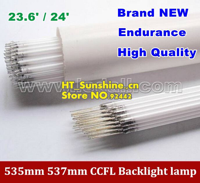 15PCS Free Shipping 535MM*2.4mm 537mm*2.4mm for 23.6inch <font><b>24inch</b></font> <font><b>TV</b></font> lamp backlight CCFL lamp backlight tube image