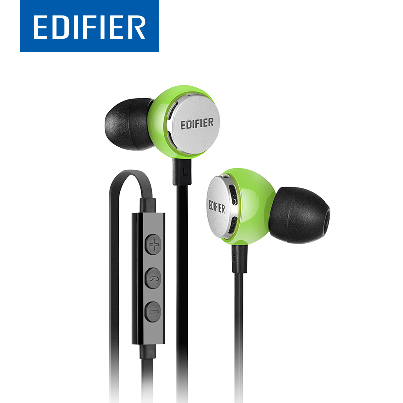 EDIFIER P293 In-Ear Earphone HIFI Bass Noise-isolating fitness Earphone Support Inline Control With Mic For Mobile Phone