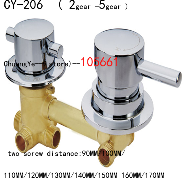 Whole Sale shower room Faucet, 2/3/4 ways Water Outlet shower room Mixing Valve/shower room Cabin Accessories shower screen mixing valve thread 4