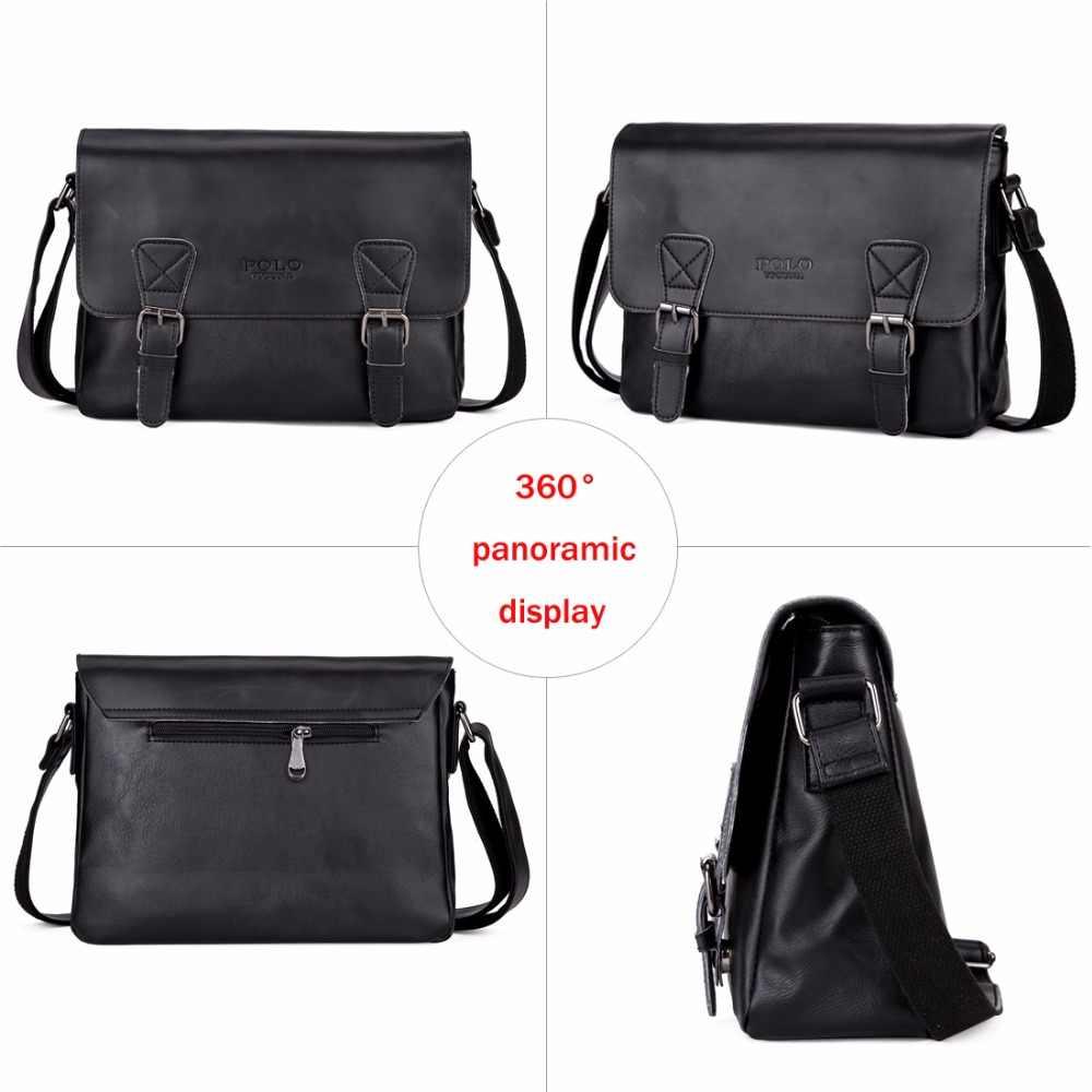 88e502373d87 ... Викуньи поло модная кожаная мужская сумка через плечо высокого качества Мужская  сумка-мессенджер Повседневная Деловая ...