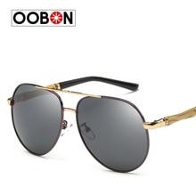 OOBON 2017 New Brand fashion polarized sunglasses men Classic Retro Pilot Glasses Color Polaroid lenses Driving women sunglasses