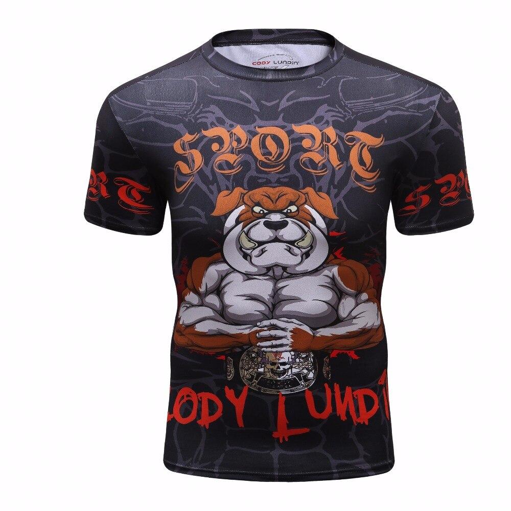 Aliexpress.com  Compre 2018 dos homens Camisa Rashguard MMA Crossfit  Fitness Musculação Tops Nova Compressão 3D BJJ Jiu Jitsu Impressão T shirt  de Manga ... 710bbf4fe7885