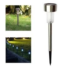 Solar Tube light Lawn Light Stainless Steel Garden LED Ground