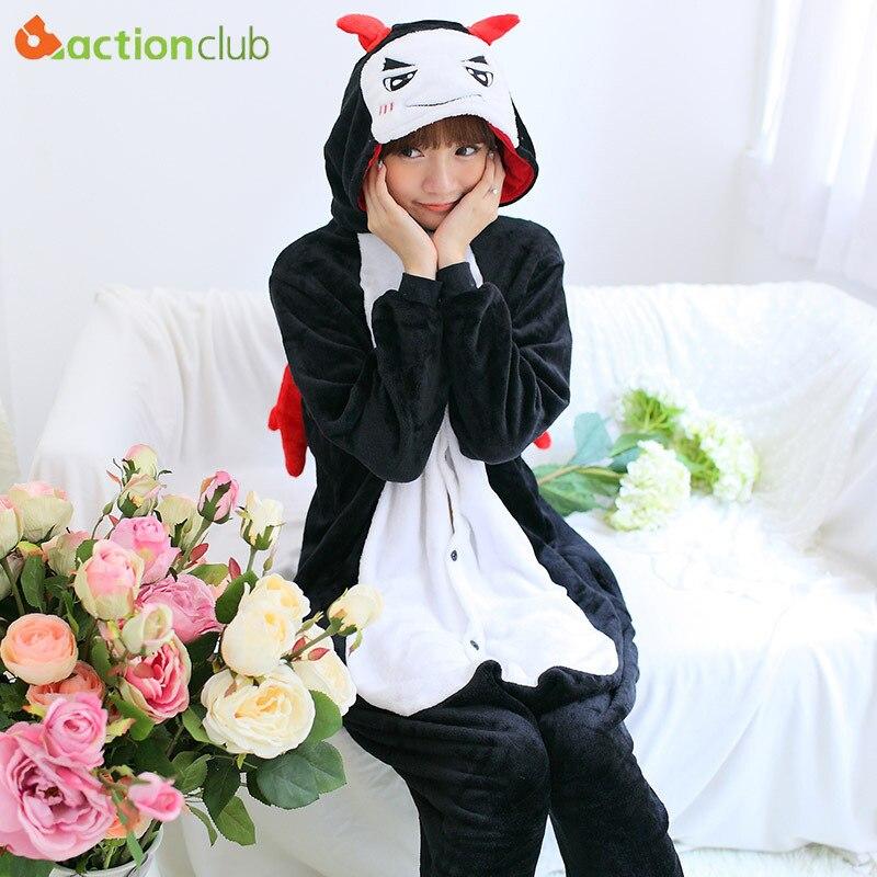 ACTIONCLUB Women Kigurumi Pajamas Onesie Hooded Anime Men Sleepwear  Jumpsuit Couples Homewear Cute Demon Home Clothes for Men on Aliexpress.com   73bd5af5db570