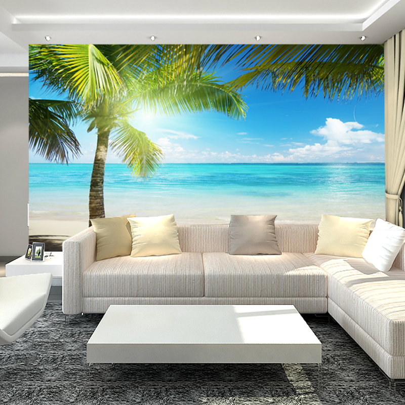 Seamless Landscape Living Room Sofa Wall TV Background