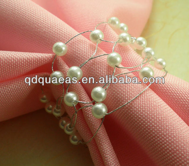 crystal diamond bulk napkin ring acrylic wedding pearl napkin
