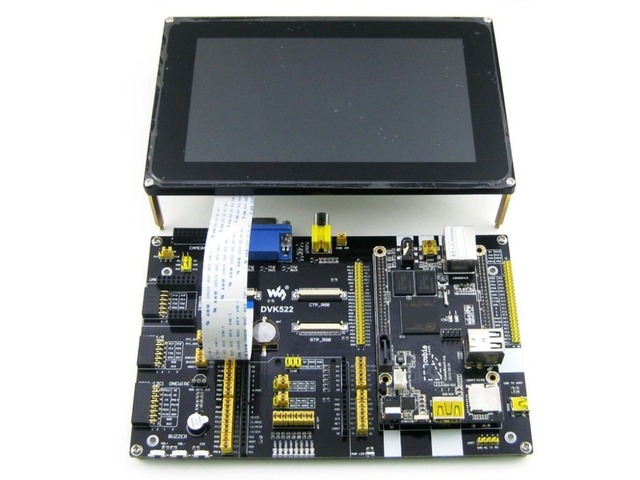 Cubieboard2 Pack C Cubieboard 2 A20 ARM Cortex A7 Dual Core Mini PC + DVK522 expansion Board +7inch LCD +7 Modules