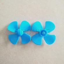 2pics Négylapú propeller lapátok műanyag játékok gyerekeknek DIY kézműves kiegészítők technológiai modell