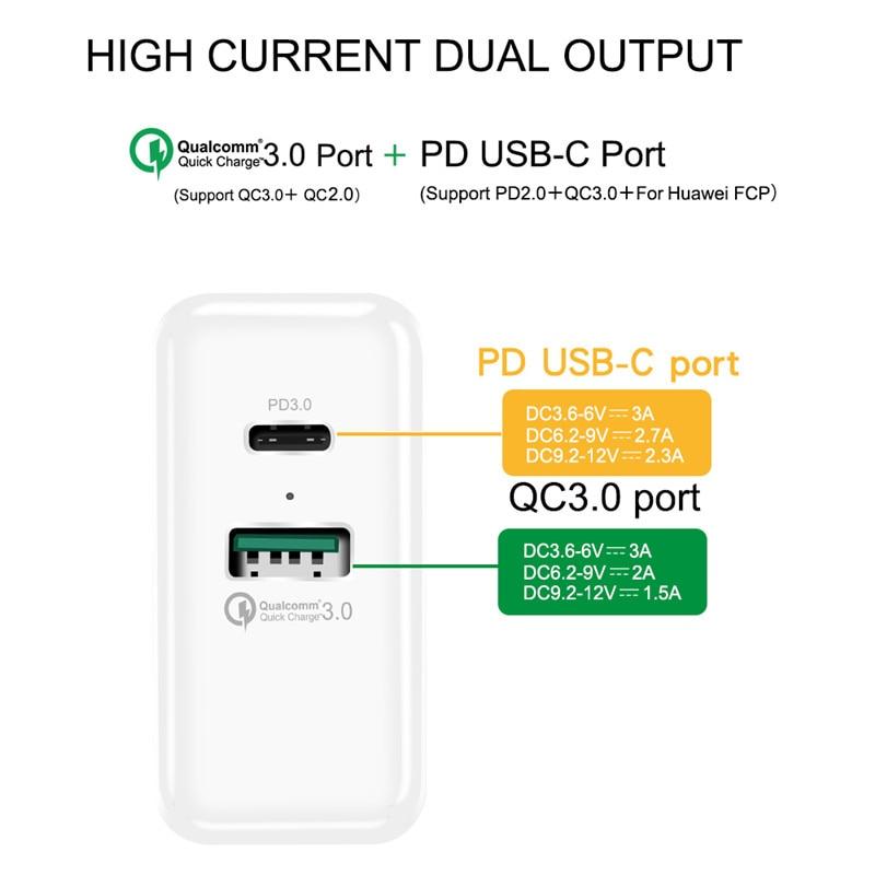 SuperCharge + QC3.0 + PD Жылдам қабырғаға - Мобильді телефондарға арналған аксессуарлар мен бөлшектер - фото 4