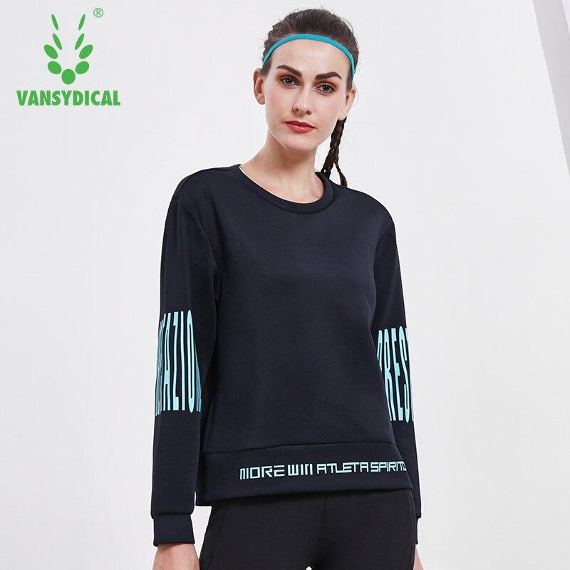 Vansydical Women Running Jacket Yoga Shirt Workout Tops Long Sleeve Pullover Running Sweatshirt Yoga Top Training Sportswear Top