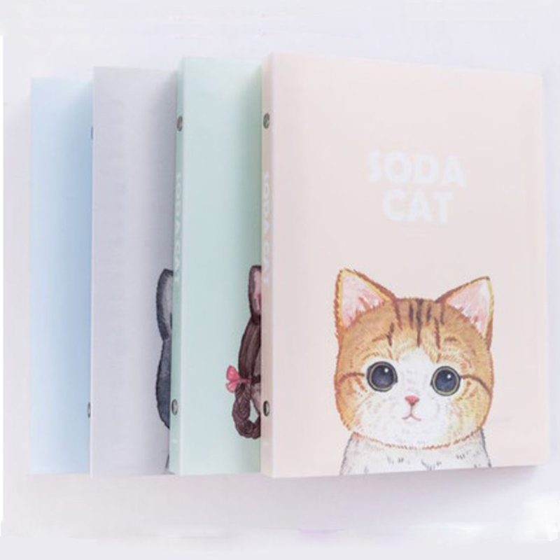 Loose-leaf detachable b5 notebook a5 school students cute cat illustration thickening large notes stationery book Notepad mirui small fresh loose leaf notebook korea simple b5 coil detachable refill student notebook a5 book a4