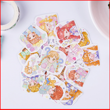 20 pcs cute girl personalized scrapbook Stickers scrapbooking material sticker happy planner decoration craft