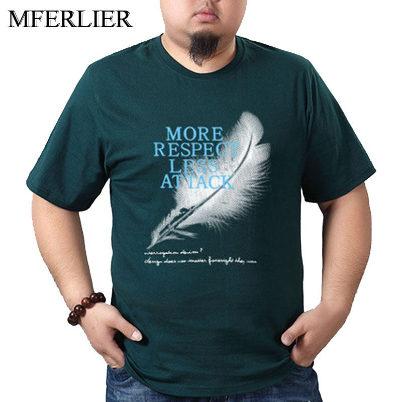 MFERLIER Summer Plus size <font><b>t</b></font> <font><b>shirt</b></font> men 5XL 6XL 7XL <font><b>8XL</b></font> Bust 140cm Weight 140kg cotton Large size men <font><b>t</b></font> <font><b>shirt</b></font> 10 colors image