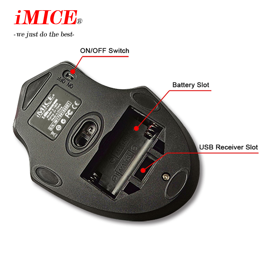 Image 4 - iMICE E 1800 Wireless mouse 2000DPI Adjustable USB 3.0 Receiver Optical Computer Mouse 2.4GHz Ergonomic Mice For Laptop PC Mouse-in Mice from Computer & Office