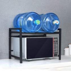 Półka kuchenna ze stali nierdzewnej przechowywanie mikrofalowe ryżowar wielofunkcyjna szafka do przechowywania|Półki i uchwyty|   -