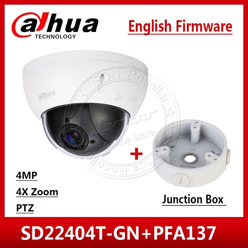 Dahua SD22404T GN 4MP 4x PTZ Network Camera IVS WDR POE IP66 IK10 Upgrade van SD22204T GN Met Dahua LOGO & Junction doos PFA137-in Beveiligingscamera´s van Veiligheid en bescherming op AliExpress - 11.11_Dubbel 11Vrijgezellendag 1