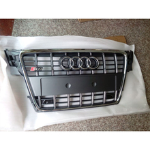 S4 Style chrome frame grey Front Bumper Grill Grille Car styling For Audi A4 B8 2009~2012