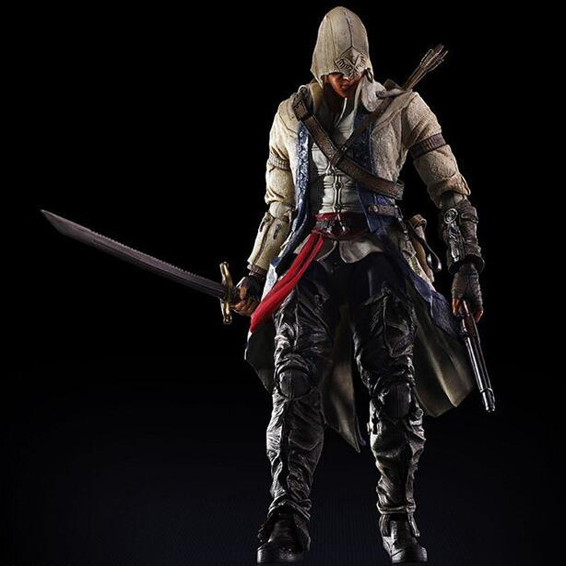 Japan PLAY ARTS KAI Assassin's Creed 3 Connor Kenway Variable PVC children cartoon Action Figure Collectible Models Toys T5824 женские часы adriatica a3464 1113q