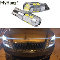 2 pcs for skoda octavia rapid fabia yeti a5 a7 drl T10 LED W5W 12V Car LED Auto Lamp Light bulbs with Projector Lens car styling
