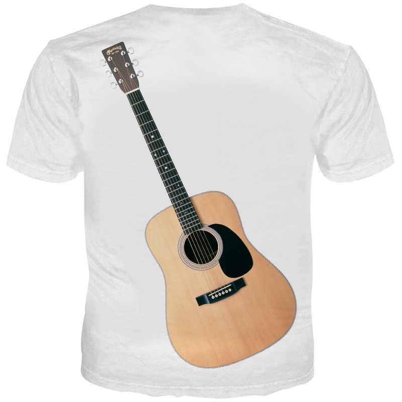 YOUTHUP Новые мужские футболки 3D парные футболки с принтом гитары летние топы с короткими рукавами модные мужские футболки уличная одежда