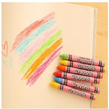 8 / 12 / 24 colors / box wax Crayons drawing pens for kids color oil pastel school supplies stationery