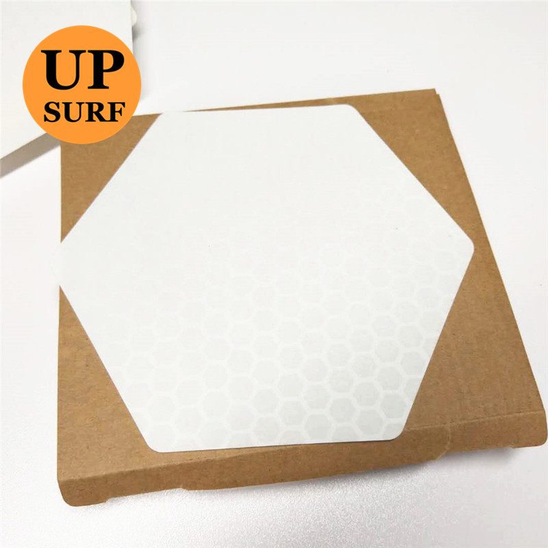 Surf Pad Free Shipping Waxless Hexagon Honeycomb Surfboard Deck Traction Pad 20 Sheets A Box Surf Mat Surfboard Accessories