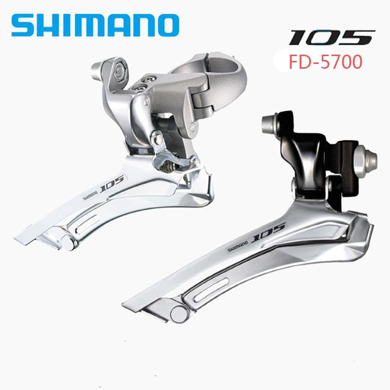 Shimano 105 FD-5700 Road 10-Speed Double 34.9mm Front Derailleur Black Road