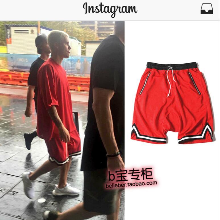 rojo Negro Verano 2018 Pantalones Mismo Nuevo Casual Bieber Trajes Hip El Hombres Estilo De Etapa blanco Cuero Hop Justin Los Elástico Ropa Cantante gCvx1wRq