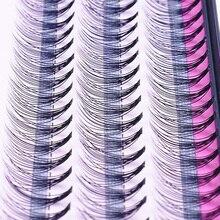 موضة 60 قطعة ماكياج المهنية الفردية العنقودية رموش تطعيم الرموش الصناعية وهمية