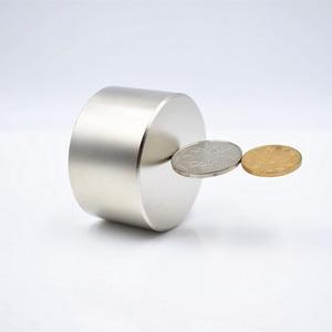 Image 2 - N52 50x30 Super powerful Neodymium magnet strong  round permanent neodymium magnetic Rare Earth iman D60x40mm Rare Earth