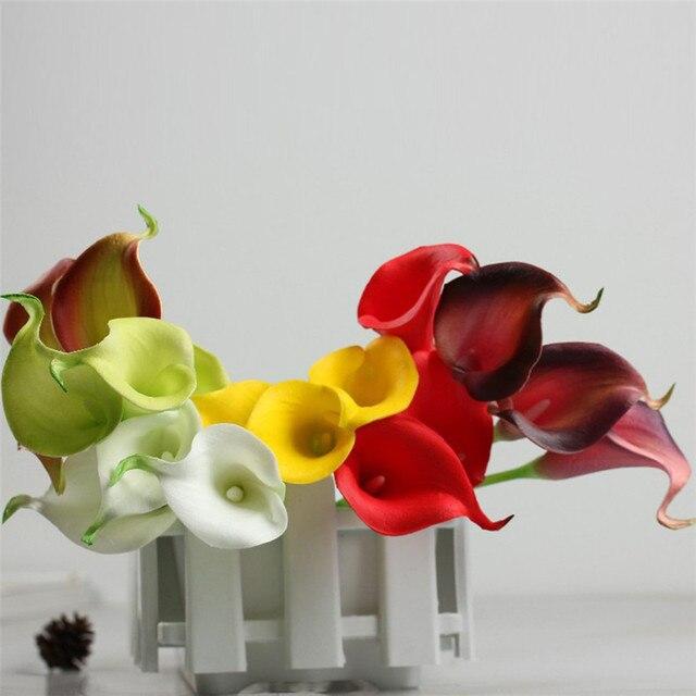 Zero 2017 New 10pcs Mini Artificial Calla Lily Wedding Flowers ...