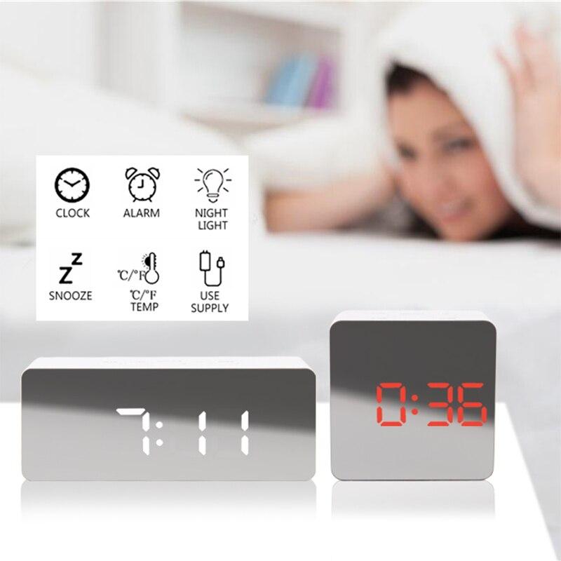 Image 4 - Digital Watch table alarm digital clock despertador LED Snooze Night Lights Temperature Table Kitchen bathroom Desk Decoration-in Alarm Clocks from Home & Garden