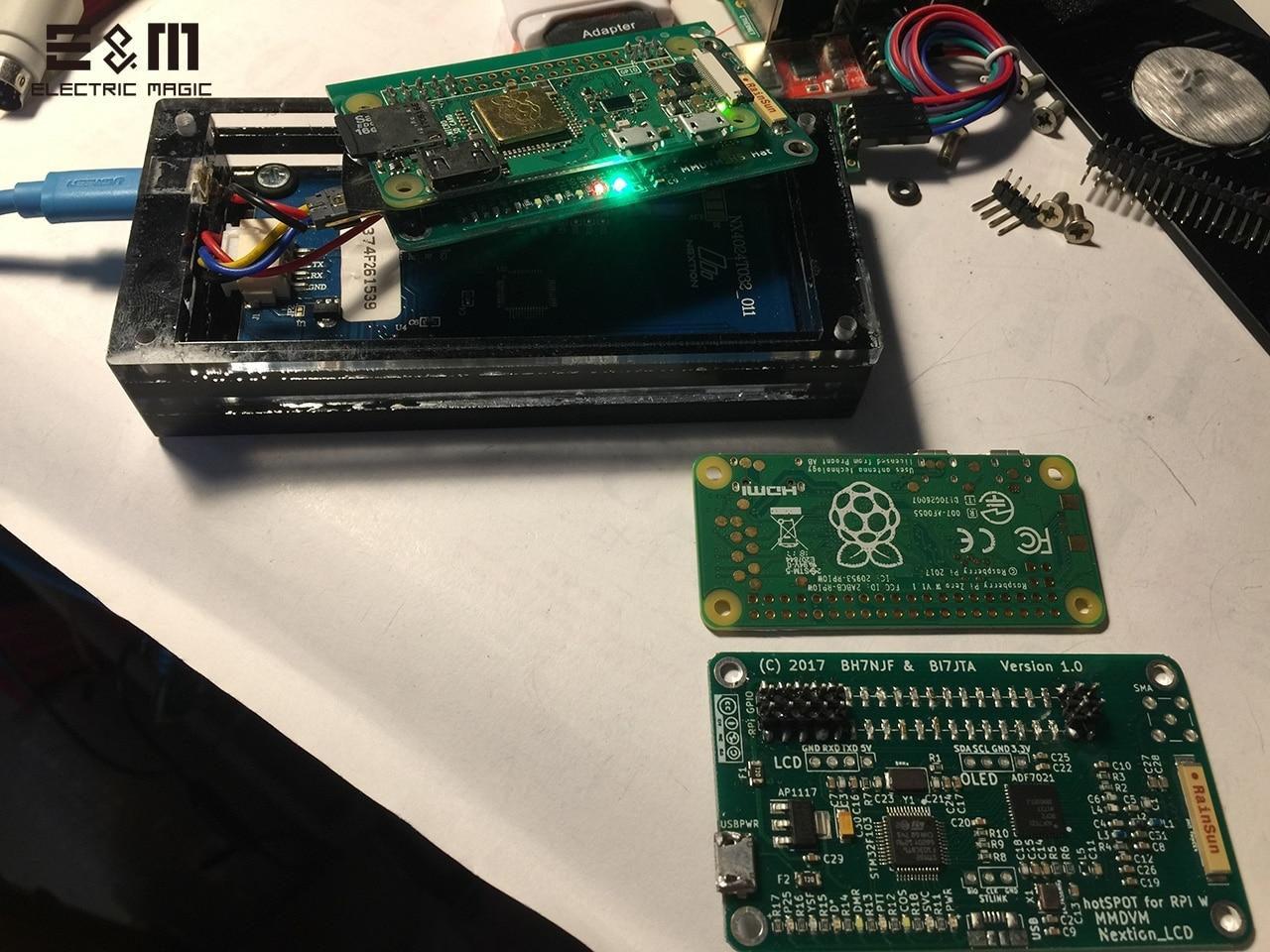 Image 3 - Écran LCD 3.2 pouces MMDVM Hotspot 20 MW UHF panneau intégré pour Raspberry Pi zéro W Wifi à bord avec carte SD antenne RainSunCircuits intégrés   -
