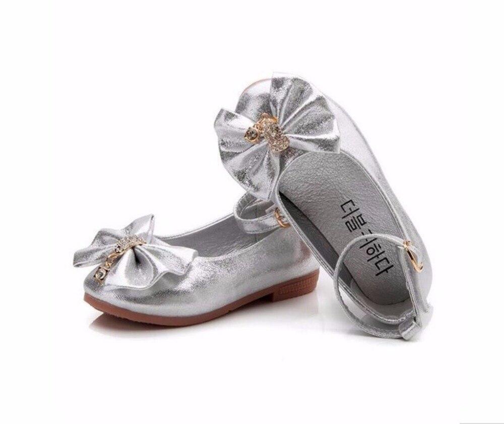2018 Ny mode Diamond Flower Girl Baby Princess Flats Skor 0