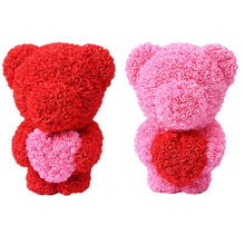 Wedding Party Decorations stand Rose foam Bear with love heart Anniversary Valentines Day Gift Birthday Present rose bear
