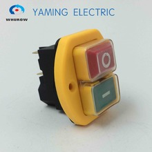 Free shipping Electromagnetic switch 5 Pin On Off Push Button 12A 230V restart and under voltage protection YCZ3-B