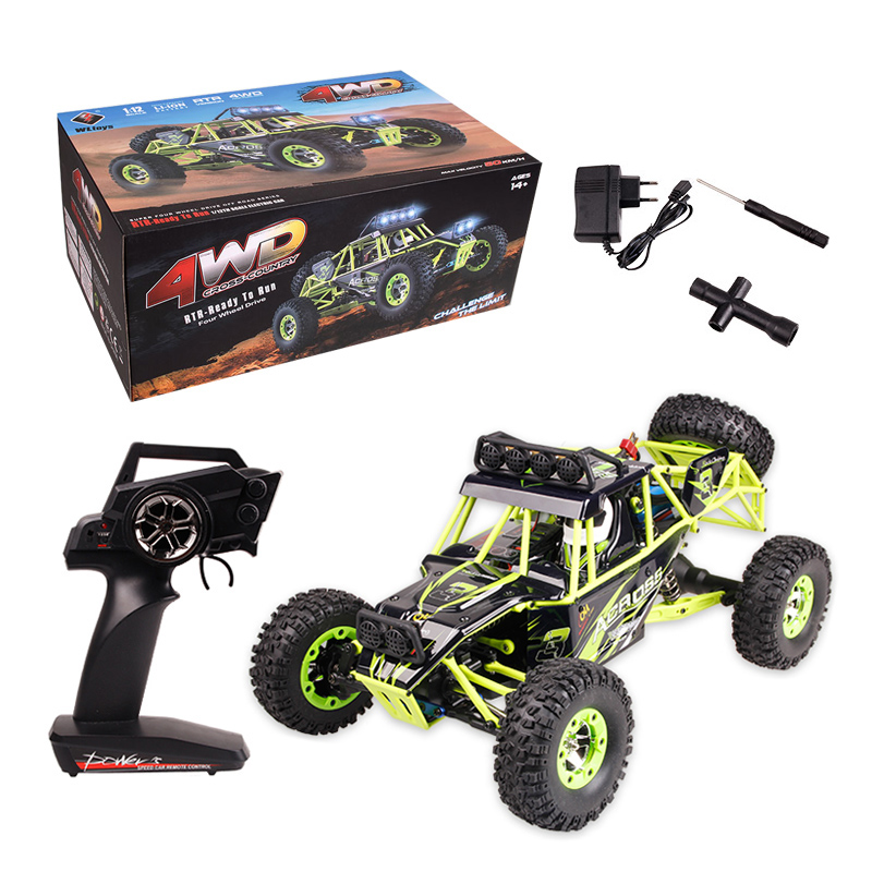 Original Wltoys 12428 RC Car 1/12 Scale 2.4G Electric 4WD Remote Control Car 50KM/H High speed RC Climbing Car Off-road vehicle huanqi 739 high speed rc cars 1 10 scale 2 4g 2wd 42km h rechargeable remote control short truck off road car rtr vehicle toy