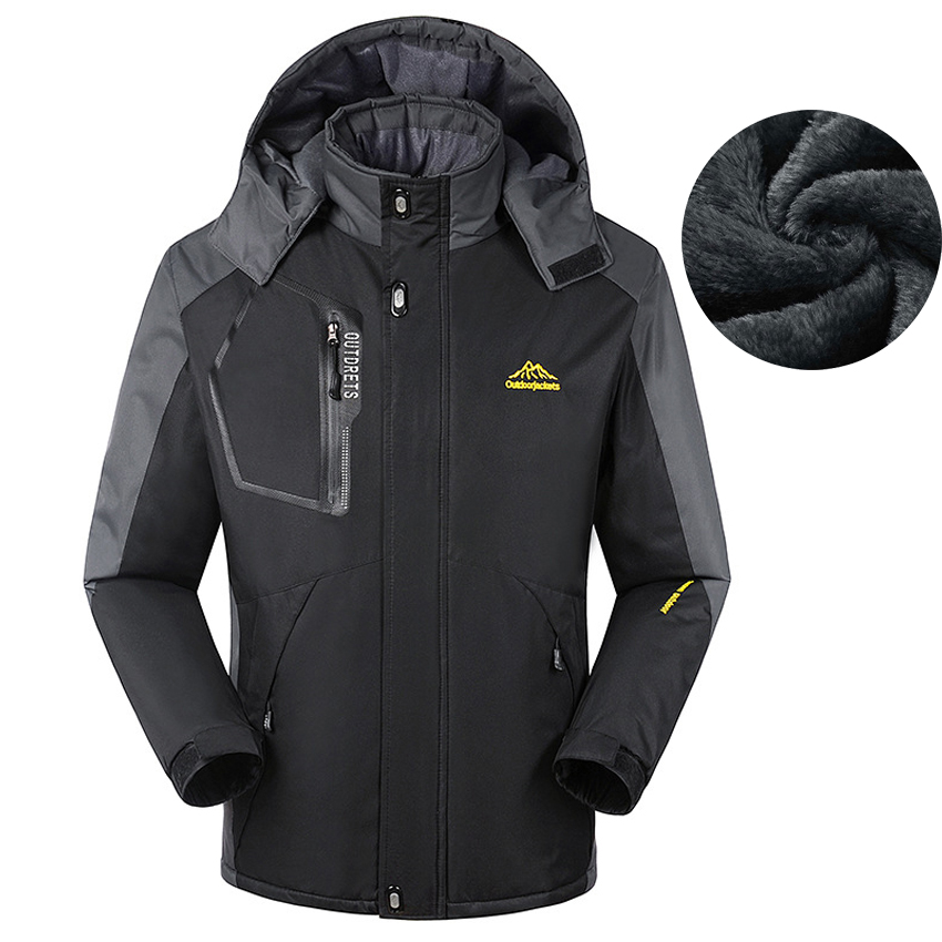 8XL Men's Winter Fleece Jackets Outdoor Sport Thermal Waterproof Coats Hiking Camping Trekking Climbing Skiing Windbreaker MA160 new winter 3 in 1 kids hiking jackets children boys girls waterproof thermal two piece fleece coats hiking skiing jacket