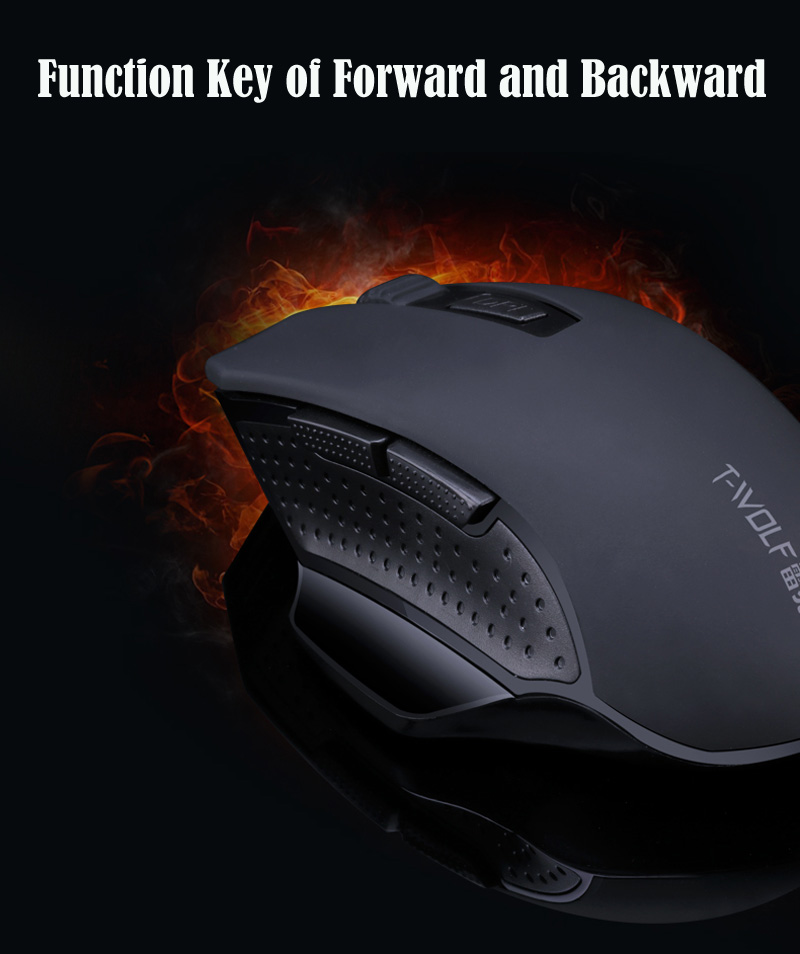 T-WOLF Q11 Mute Wireless Gaming Mouse 2400 DPI (11)