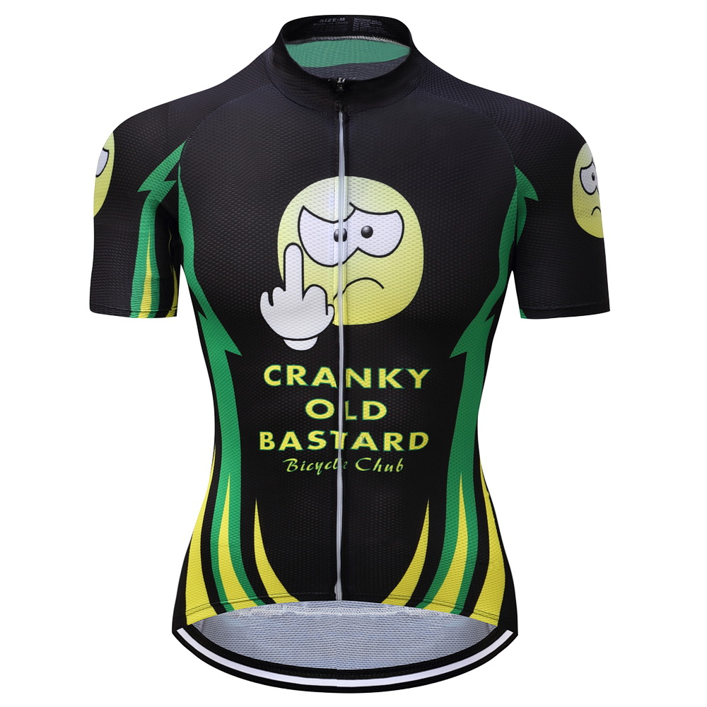 2017 various styles short sleeve cycling jerseys Hot Sale Men Cycling Jersey Mountain Bike Bicycle Quick Dry CRANKY OLD BASTARD in Cycling Jerseys from Sports Entertainment