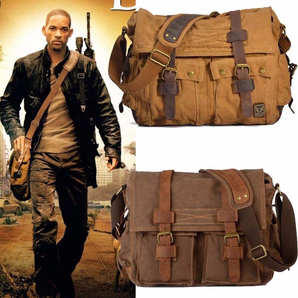 I AM LEGEND Will Smith de Los Hombres Bolsas de Mensajero Militar de La Lona de
