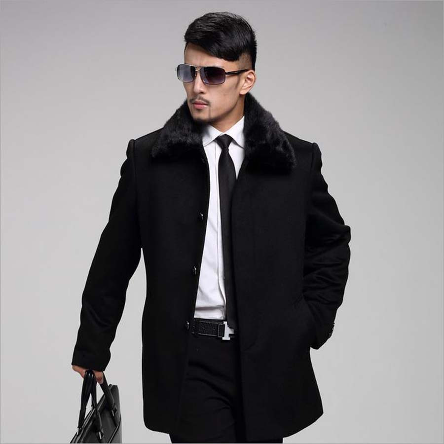 Autumn Warm Winter Jackets Men Nick Garment Casual Business Coat Mens Clothing M-3XL