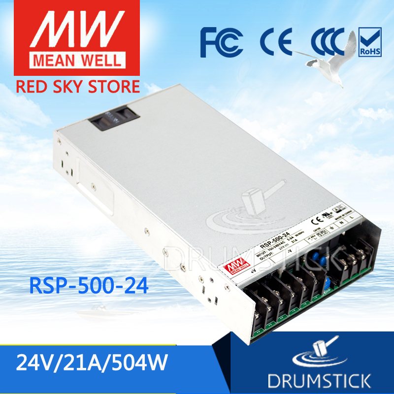 Best-selling MEAN WELL RSP-500-24 24V 21A meanwell RSP-500 24V 504W Single Output with PFC Function Power Supply just play игровой набор друзья дотти