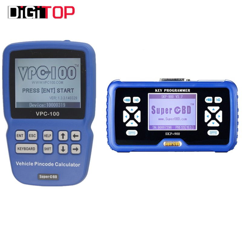 Promotion SuperOBD SKP-900 Hand-Held OBD2  V4.5 Plus VPC-100 Pin Code Calculator Hand-Held With 500 Tokens